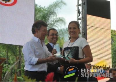 Imagen de Presidente Santos premia tecnología santandereana Electro Software